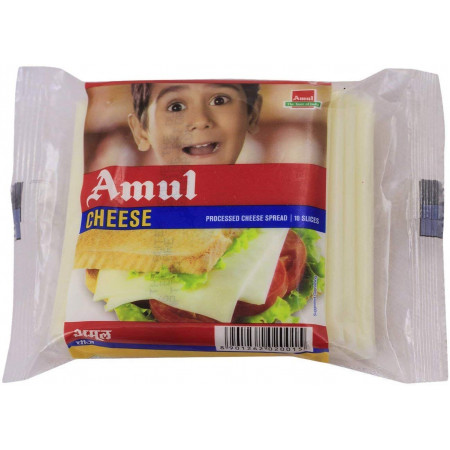 Amul Cheese Slices, 200 g Pouch
