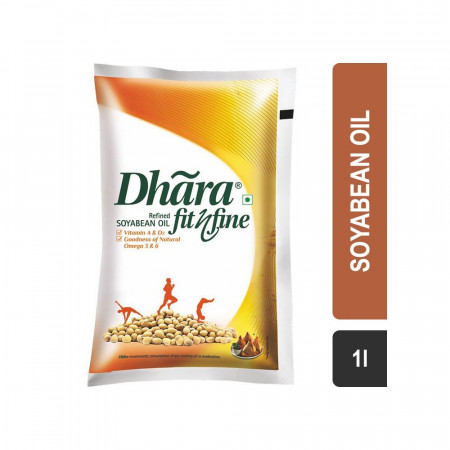 Dhara Refined Soyabean Oil Pouch