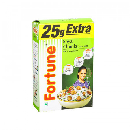 Fortune Soya Chunks, 25gm Extra