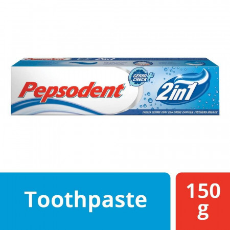 Pepsodent Toothpaste - 2 In 1, Cavity Protection, 150 g