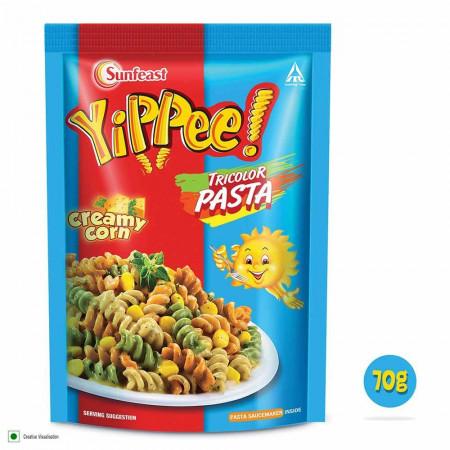 Sunfeast YiPPee! Tricolor Pasta 70g Pack